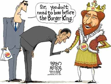 o'who bows to Burger King